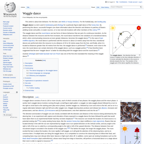 Waggle dance - Wikipedia