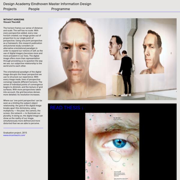 Vincent Thornhill - Design Academy Eindhoven Master Information Design