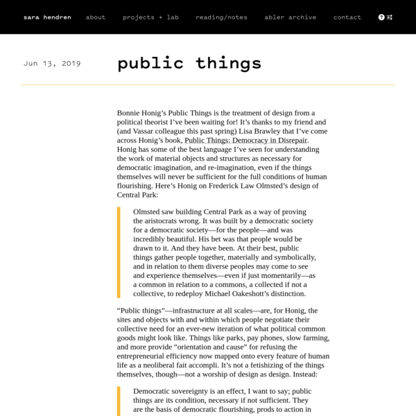 public things | sara hendren