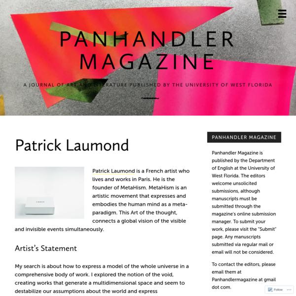 Patrick Laumond – Panhandler Magazine