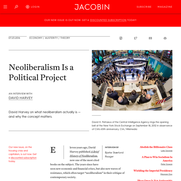 Neoliberalism Is a Political Project