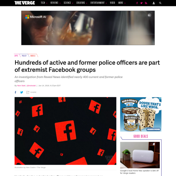 Hundreds of active and former police officers are part of extremist Facebook groups