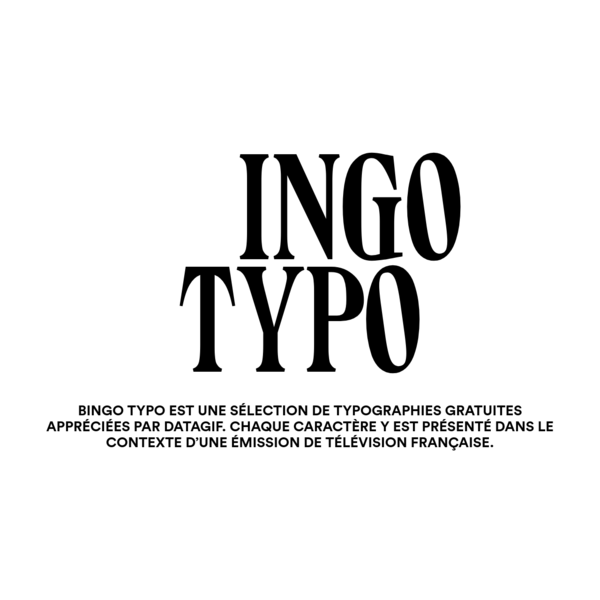 BINGO TYPO