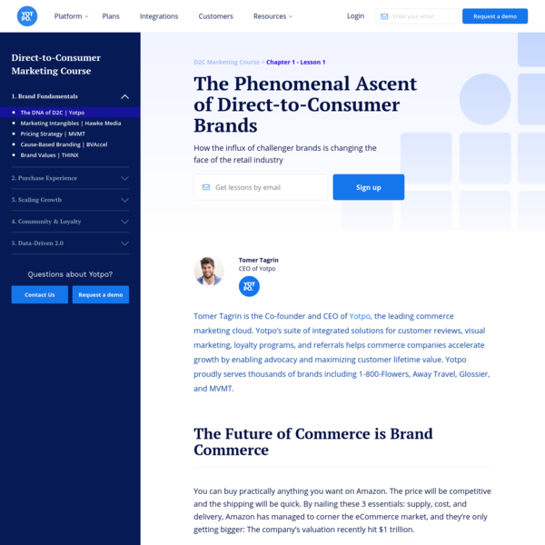 The Phenomenal Ascent of Direct-to-Consumer Brands | Yotpo