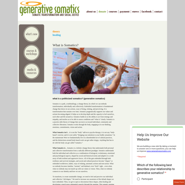 What is Somatics?   generative somatics