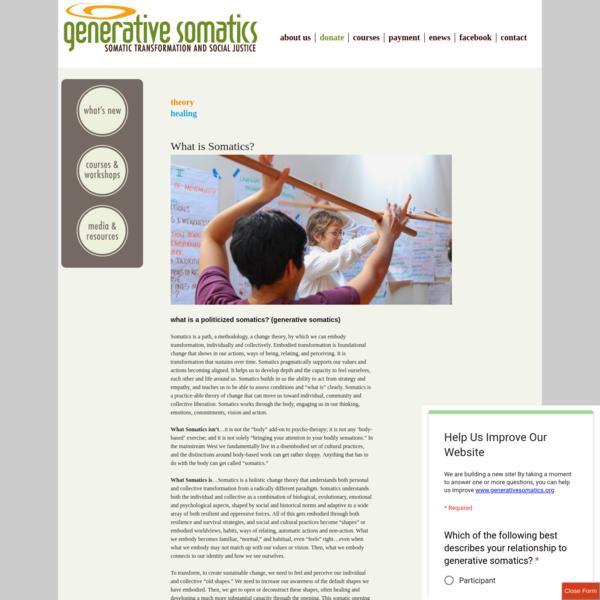What is Somatics? | generative somatics