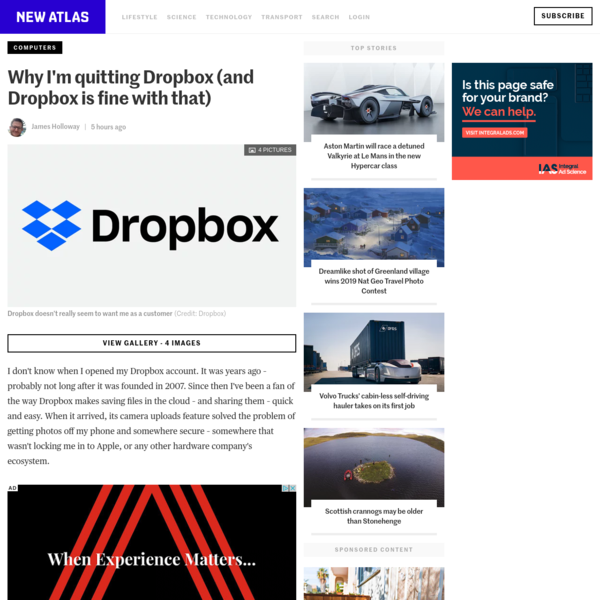 Why I'm quitting Dropbox (and Dropbox is fine with that)