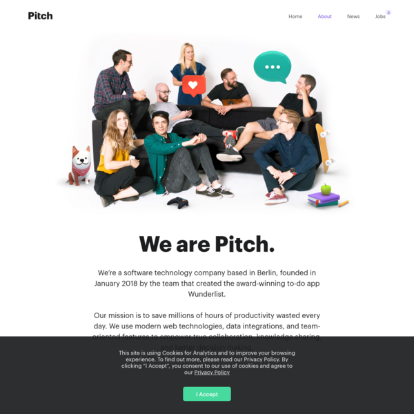 We are Pitch.