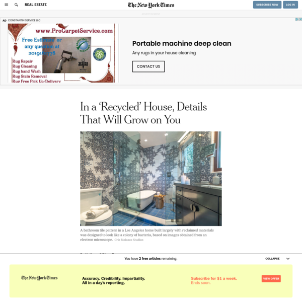 In a 'Recycled' House, Details That Will Grow on You