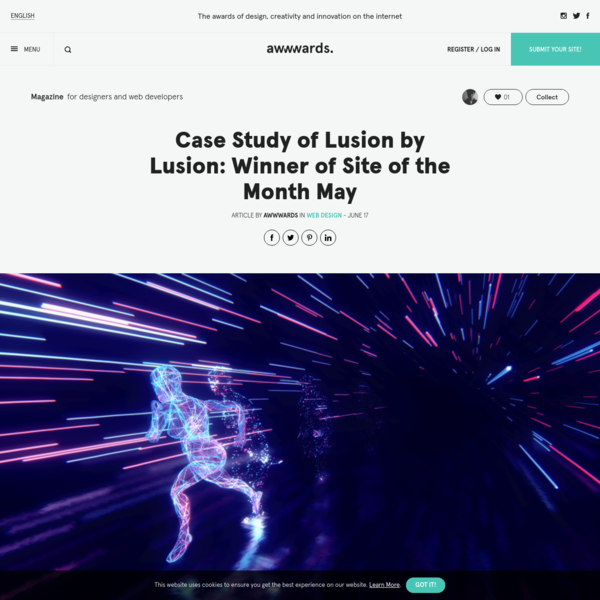 Case Study of Lusion by Lusion: Winner of Site of the Month May