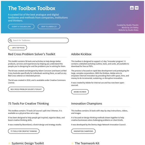 The Toolbox Toolbox