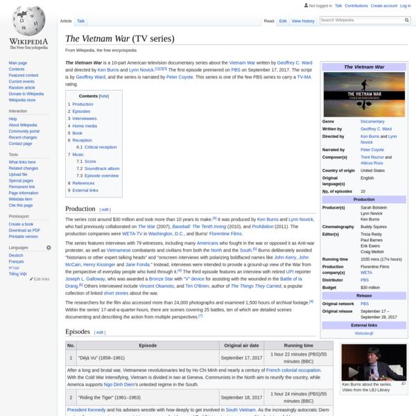 The Vietnam War (TV series) - Wikipedia