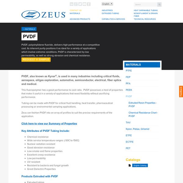 PVDF |PVDF Tubing, Special Profiles & Drawn Fiber | Zeus
