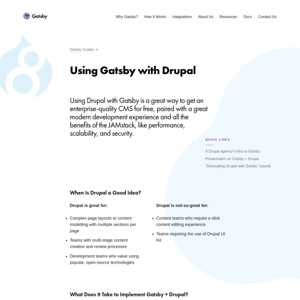 Using Gatsby with Drupal