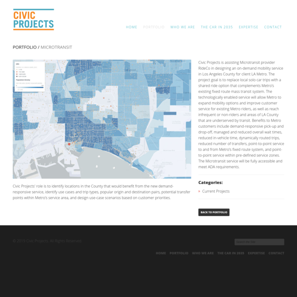 Microtransit   Civic Projects