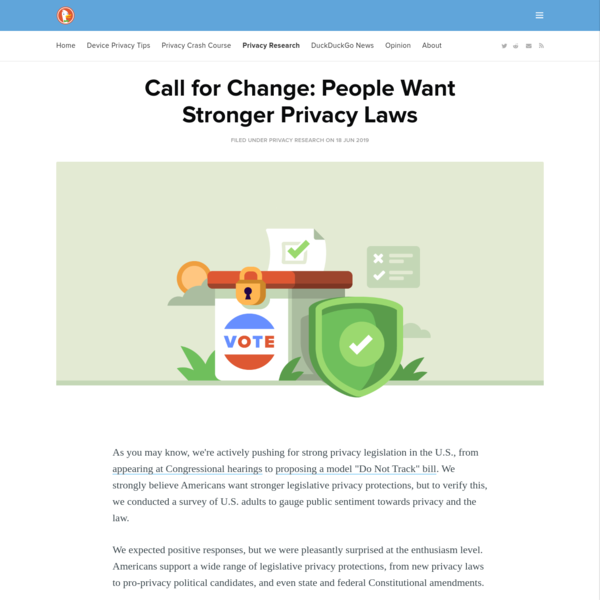 Call for Change: People Want Stronger Privacy Laws