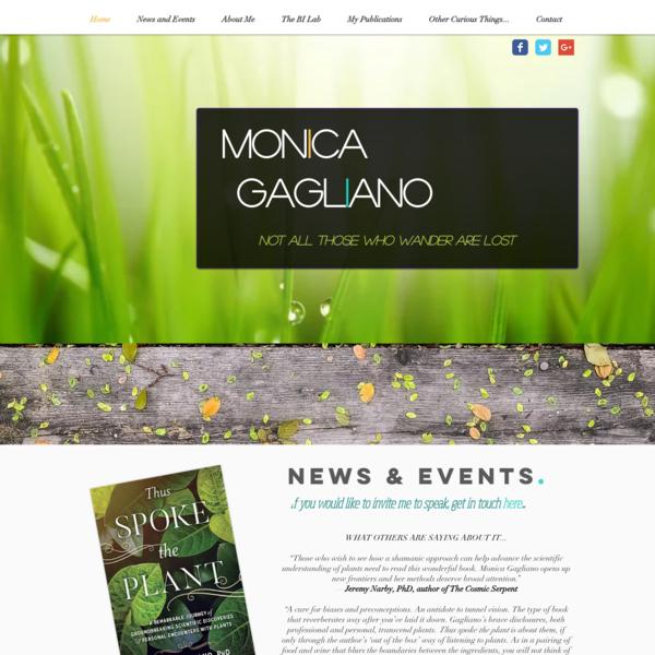 Plant Behaviour & Cognition | Monica Gagliano | Scientific Research