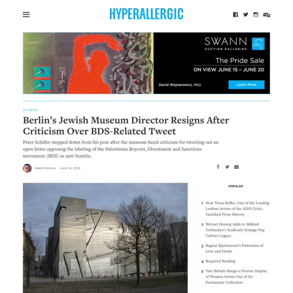 Berlin's Jewish Museum Director Resigns After Criticism Over BDS-Related Tweet