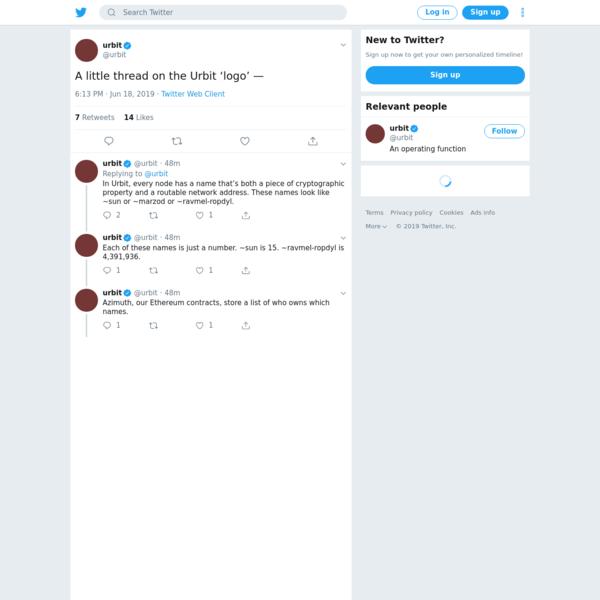 urbit on Twitter