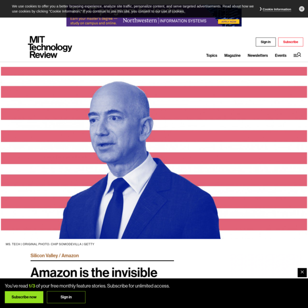 Amazon is the invisible backbone behind ICE's immigration crackdown - MIT Technology Review