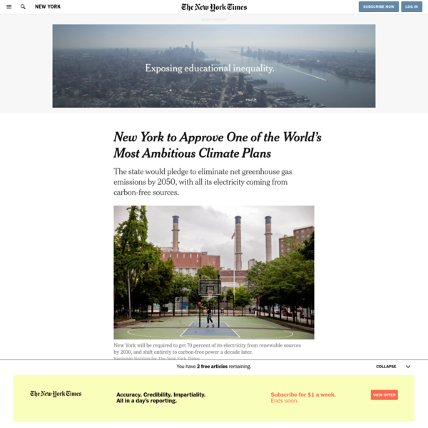 New York to Approve One of the World's Most Ambitious Climate Plans