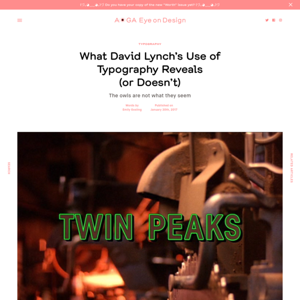 What David Lynch's Use of Typography Reveals (or Doesn't) | | Eye on Design