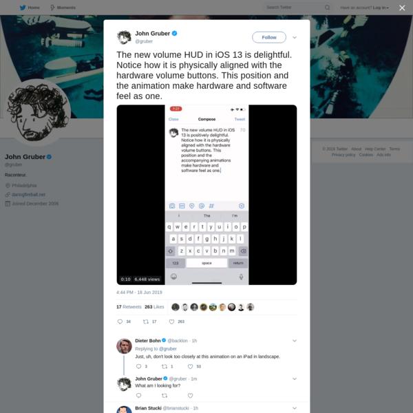 John Gruber on Twitter