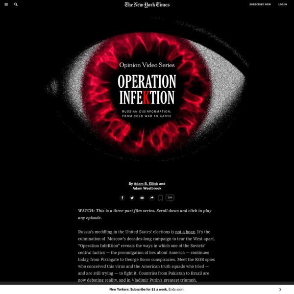 Opinion | Operation Infektion: A three-part video series on Russian disinformation