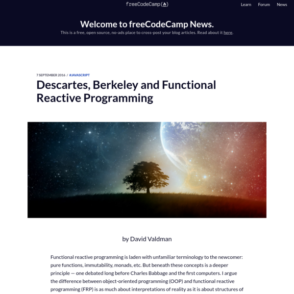 Descartes, Berkeley and Functional Reactive Programming