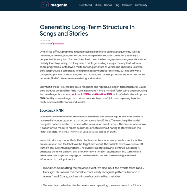 Generating Long-Term Structure in Songs and Stories