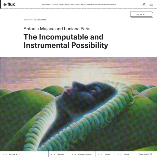 The Incomputable and Instrumental Possibility