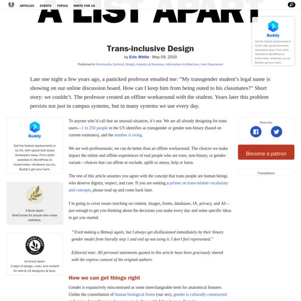 Trans-inclusive Design