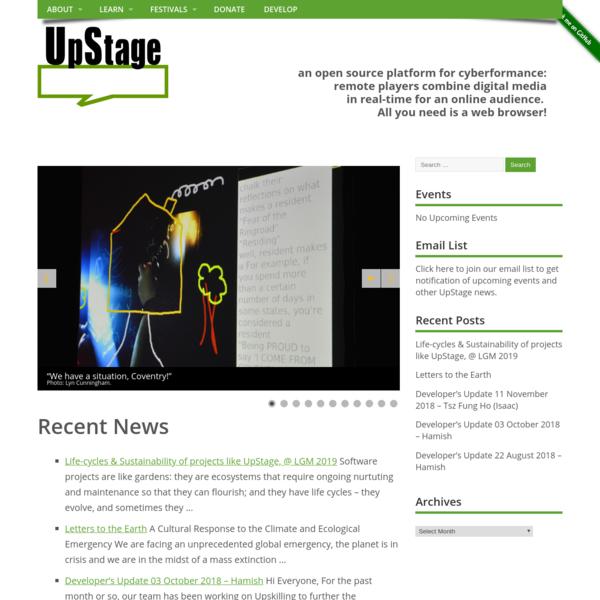 UpStage - Cyberformance Platform