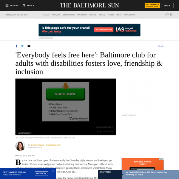 'Everybody feels free here': Baltimore club for adults with disabilities fosters love, friendship & inclusion