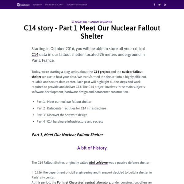 C14 story - Part 1 Meet Our Nuclear Fallout Shelter