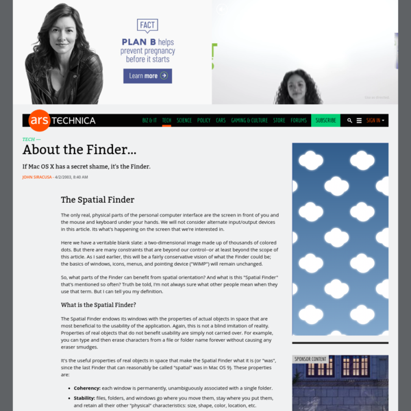 About the Finder...