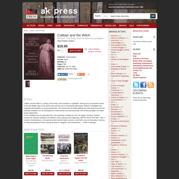 Caliban and the Witch   AK Press