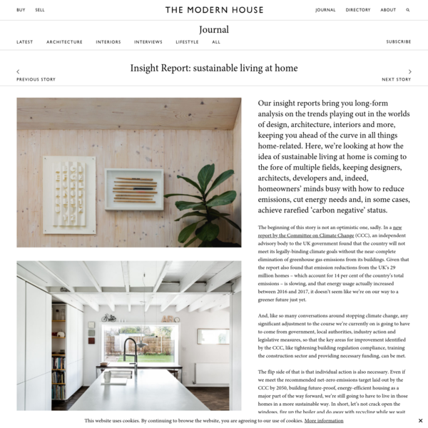 Insight Report: sustainable living at home | Journal | The Modern House