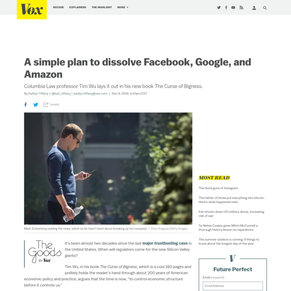A pocket guide to breaking up Facebook, Amazon, and Google