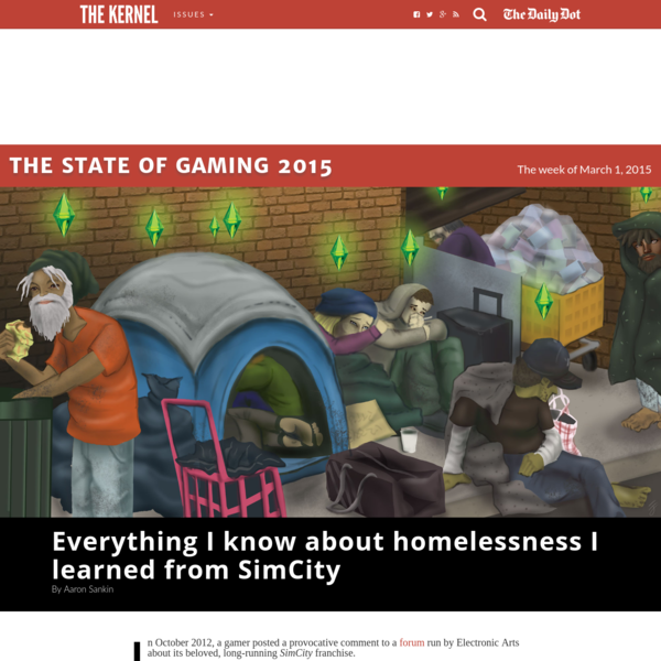 Everything I know about homelessness I learned from SimCity - The Kernel