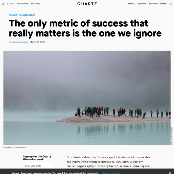 The only metric of success that really matters is the one we ignore