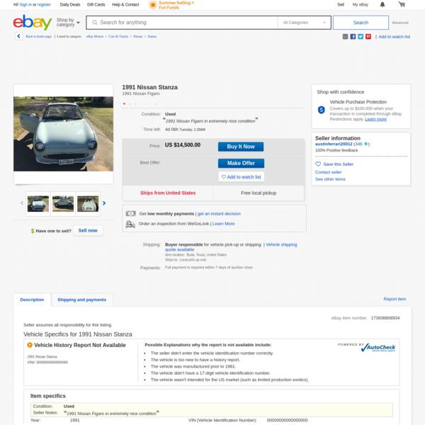 1991 Nissan Stanza | eBay