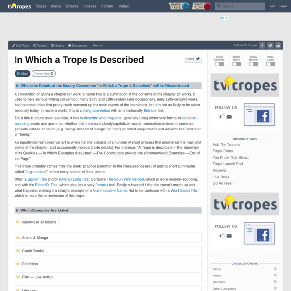 In Which a Trope Is Described - TV Tropes