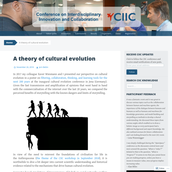 A theory of cultural evolution