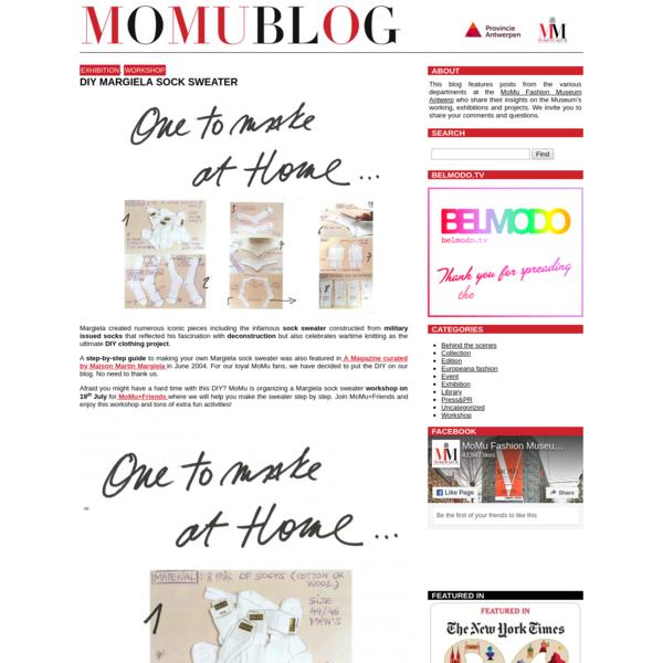DIY Margiela Sock Sweater - MoMu Blog