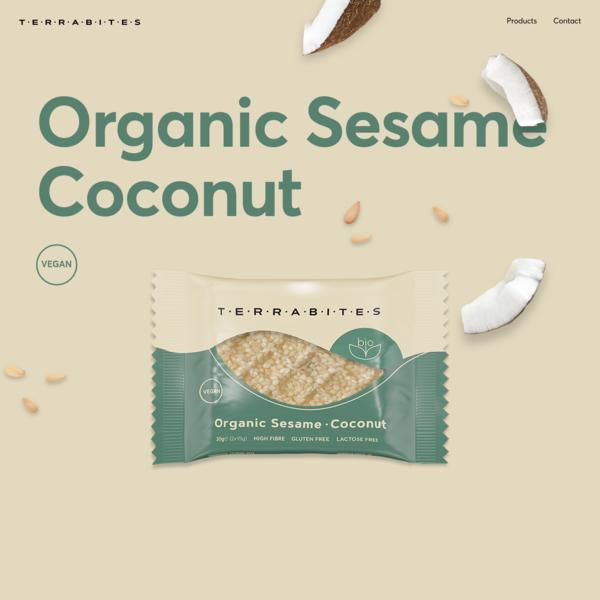 Organic Sesame Coconut | Terrabites
