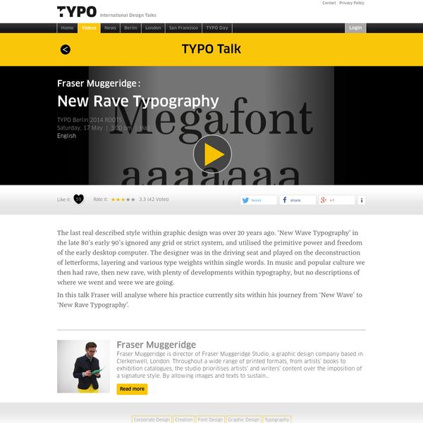 """TYPO Talks """" Blog Archiv """" New Rave Typography"""