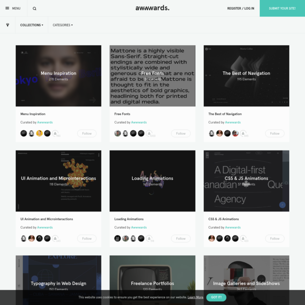 Collections - Inspirational Resources For Web Designers & Developers