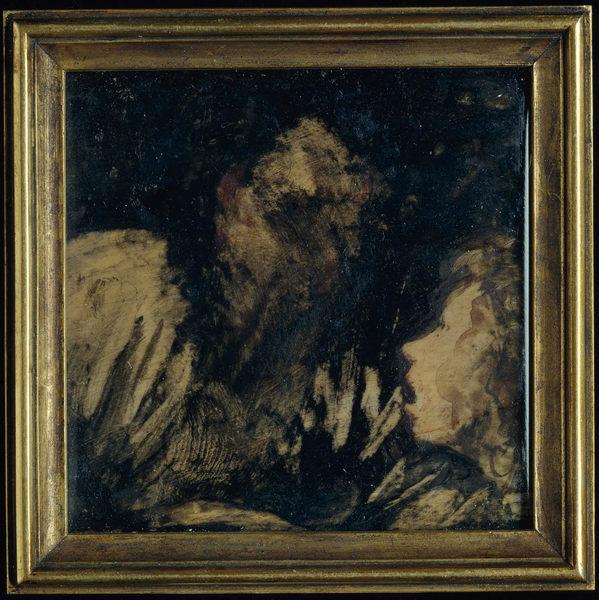 Boy Staring at an Apparition, by Francisco de Goya y Lucientes. 1824–25.