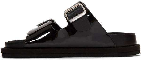 N.Hoolywood  Black Strap Sandals